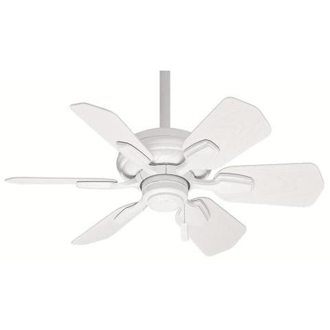 Casablanca Wailea 31-inch Snow White Damp Listed Fan with 6 Snow White Blades
