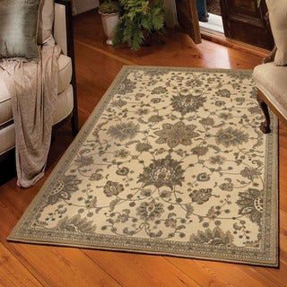 "Carolina Weavers Detailed Traditional Ceti Beige Area Rug (5'3"" x 7'6"")"