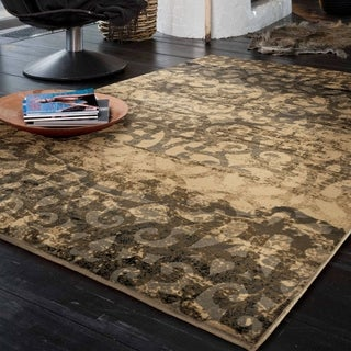 Carolina Weavers Refined Culture Collection Weaving Through Beige Area Rug (5'3 x 7'6)