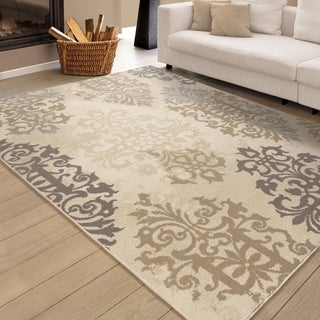 Carolina Weavers Urbane Collection Fiore Ivory Area Rug (5'3 x 7'6)