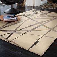Carolina Weavers Urbane Collection Firebolt Ivory Area Rug (5'3 x 7'6)
