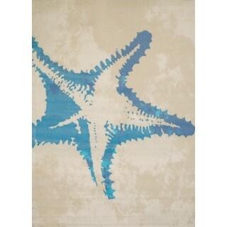 "Panama Jack Island Breeze Sea Life Accent Rug (1'10"" x 3')"