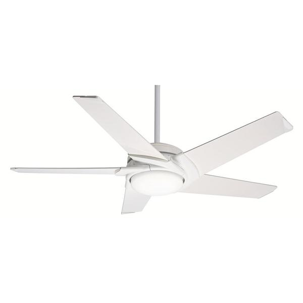 Casablanca Fan Stealth DC/ LED 54-inch Snow White with 5 High-Gloss Snow White Blades