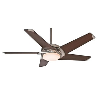 Casablanca Fan Stealth DC/ LED 54-inch Brushed Nickel with 5 Walnut Blades