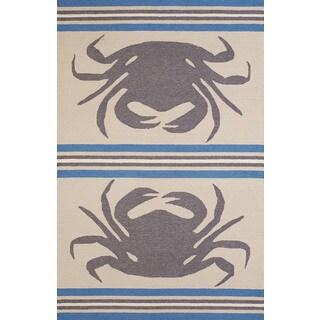 Panama Jack Signature Crab Shack Indoor/Outdoor Area Rug (7'6 x 9'6)