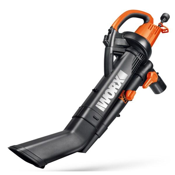 Worx WG505 12 Amp Tri Vac All-In-One Electric Blower, Mulcher and Vacuum