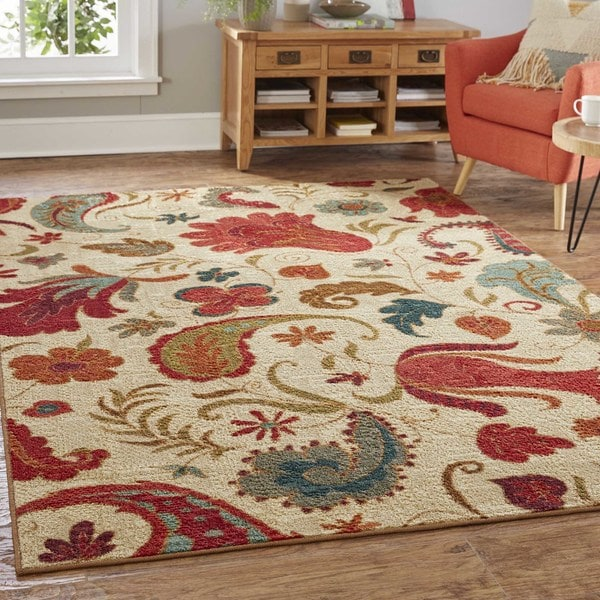 Clay Alder Home Bethany Paisley Area Rug - 10' Square
