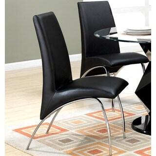Kershner Contemporary Sleek Design Black Dining Chairs (Set of 2)