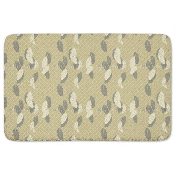 Gentle Feathers Beige Bath Mat