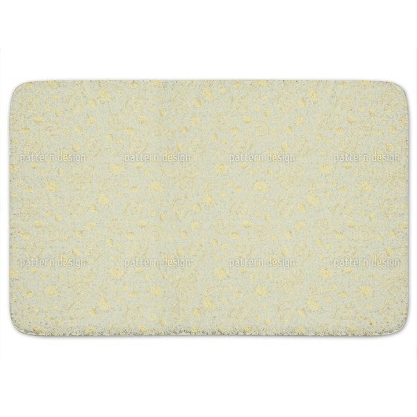 Gold Flora Bath Mat
