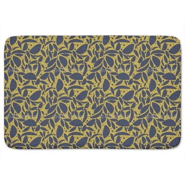 Gold Leaf Silhouettes Bath Mat