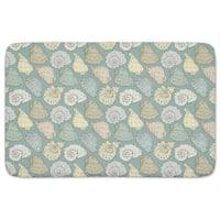 Handdrawn Seashells Bath Mat