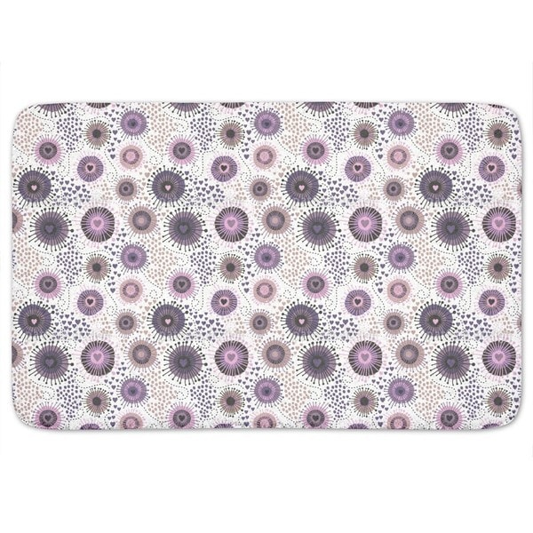 Heart Beats In Winter Bath Mat