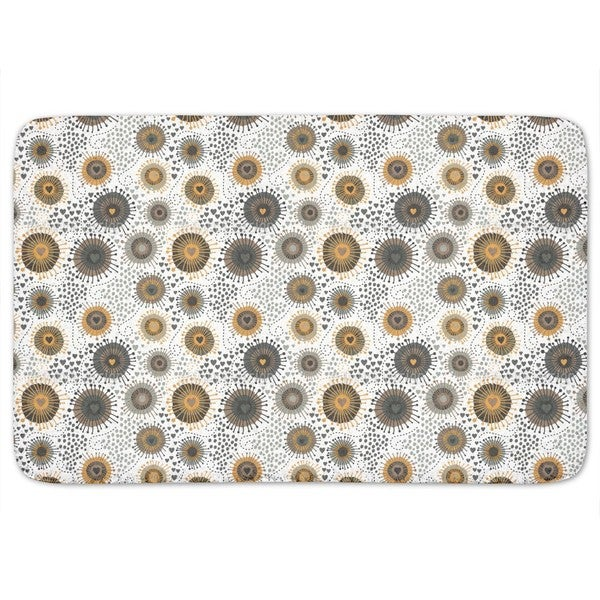 Heart Beats Retro Bath Mat