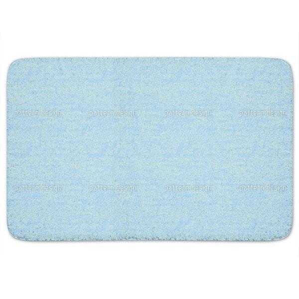 Heavenly Blue Words Bath Mat