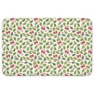 Holly Christmas Bath Mat