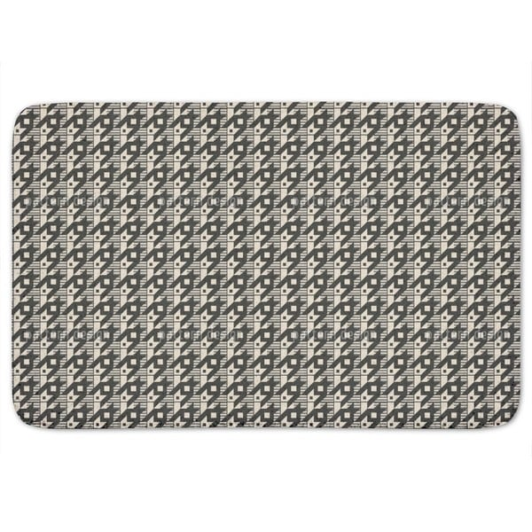 Hounds-Tooth Variation Bath Mat
