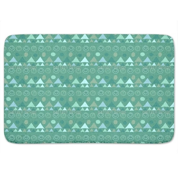 Triangles In Green Bath Mat