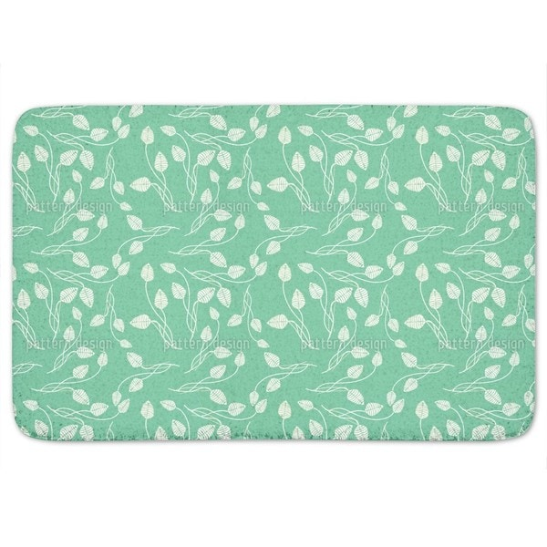Flower Dance On Mint Bath Mat