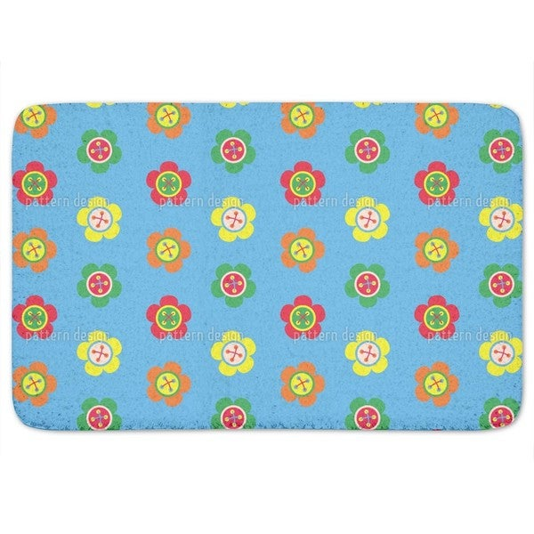 Flower Buttons Bath Mat