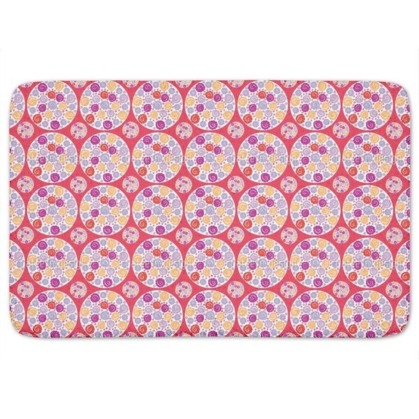 Flower Bouquet Red Bath Mat