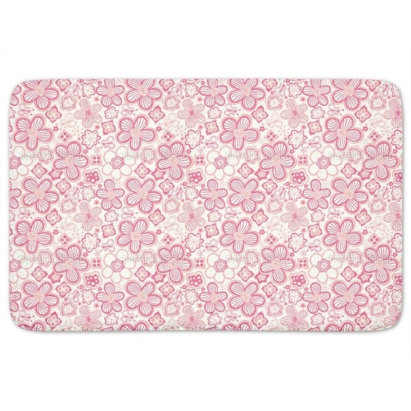 Butterflies Love Candy Flowers Bath Mat