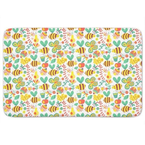 Busy Honey Bees Bath Mat