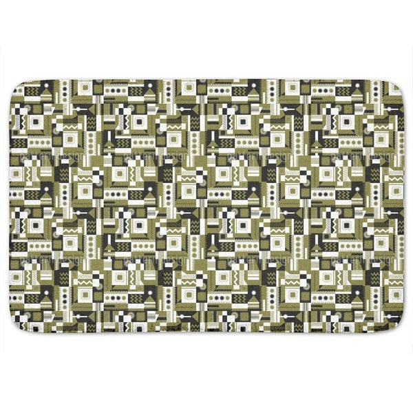 Zigzag Rectangles Bath Mat