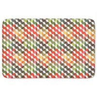 Zigzag Objects Bath Mat