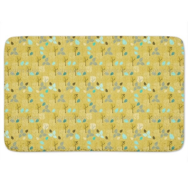 When The Last Leaves Fall Bath Mat