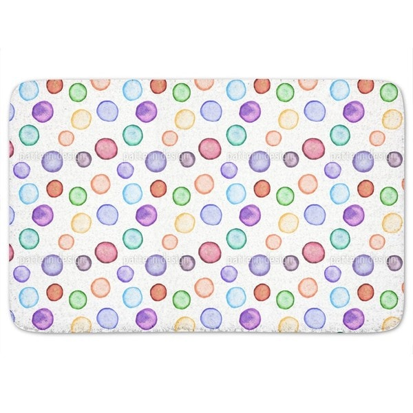 Watercolors Dot Com Bath Mat