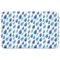 Watercolor Rain Drops Bath Mat