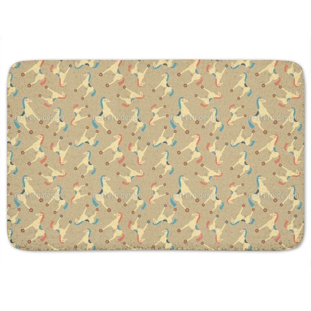 Uneekee Toy Horses Bath Mat (Basic Standard), Multi, Size...