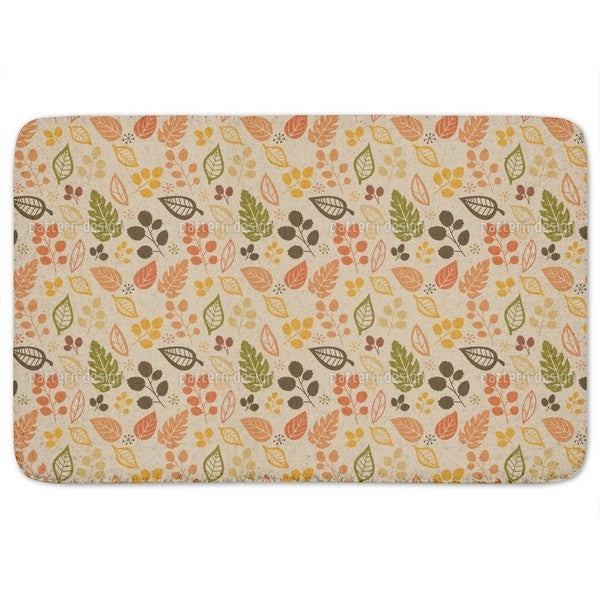 To Decide For Leaves Bath Mat