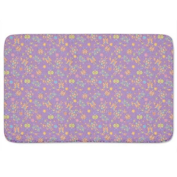 Tingle Tangle Violet Bath Mat