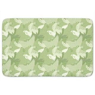 The Journey Of The Green Butterflies Bath Mat