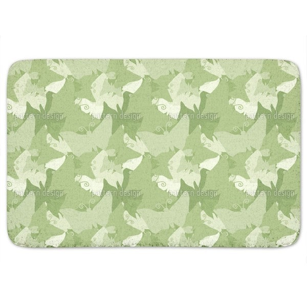 The Journey Of The Green Butterflies Bath Mat