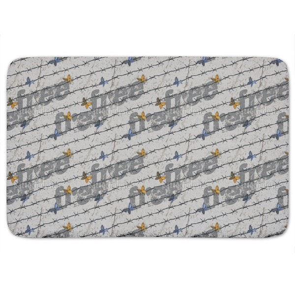 The Freedom Of The Butterflies Bath Mat