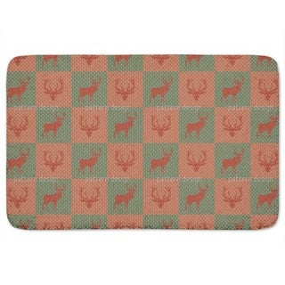 The Forest King Red Green Bath Mat