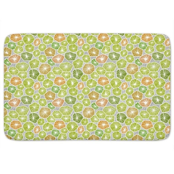 Slices Of Fruit Bath Mat