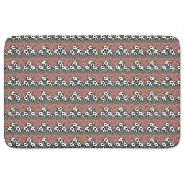 Skully Grey Bath Mat