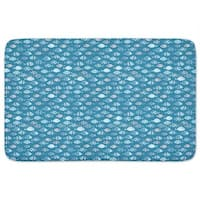 Swarms Of Fish Crossover Bath Mat