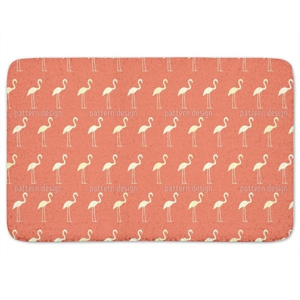 Sunset Flamingo Bath Mat