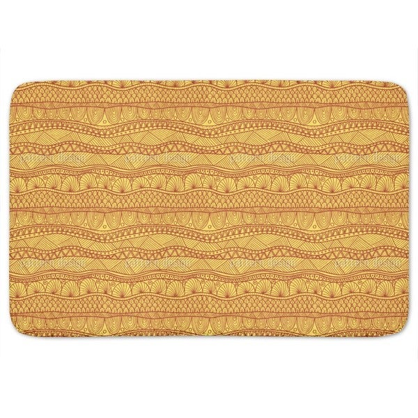 Sunny Ethno Stripes Bath Mat