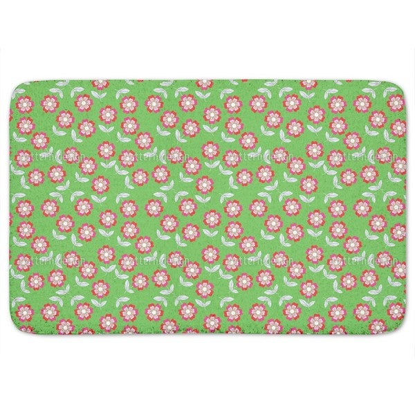 Summer Flowers Bring Joy Bath Mat