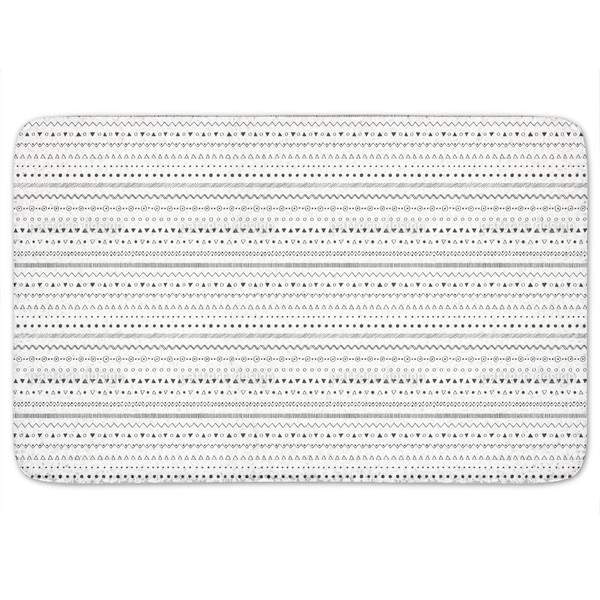 Striped Ethno Bath Mat