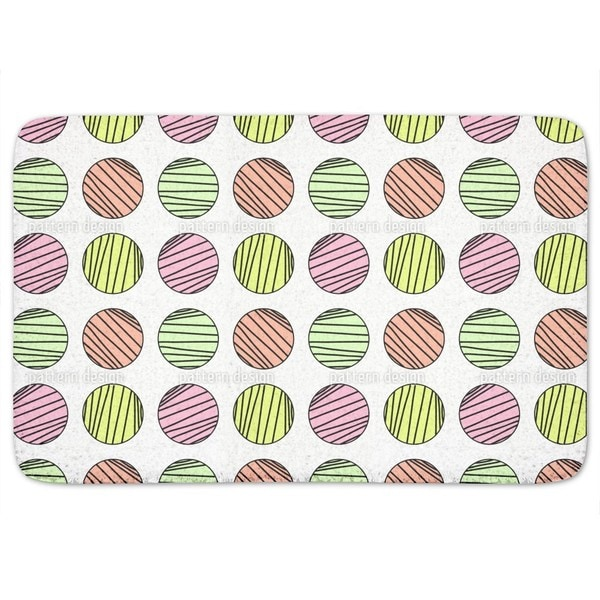 Striped Circles Bath Mat