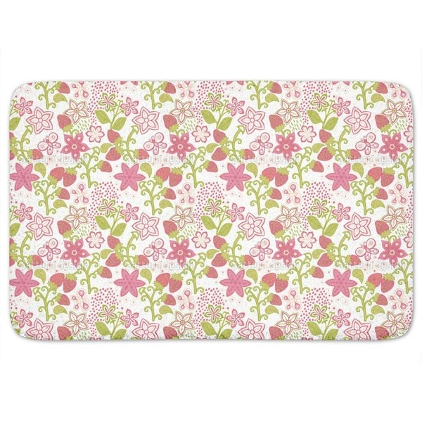 Strawberry Paradise Bath Mat