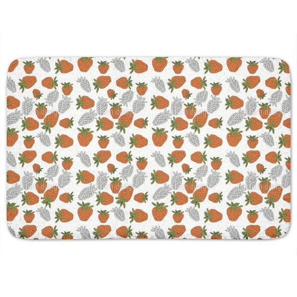 Strawberries Red Bath Mat
