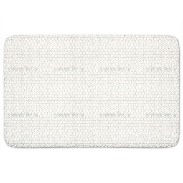 Scale Skin White Bath Mat